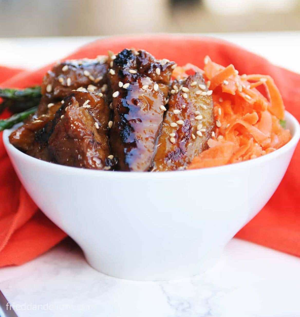 Teriyaki seitan by Fried Dandelions