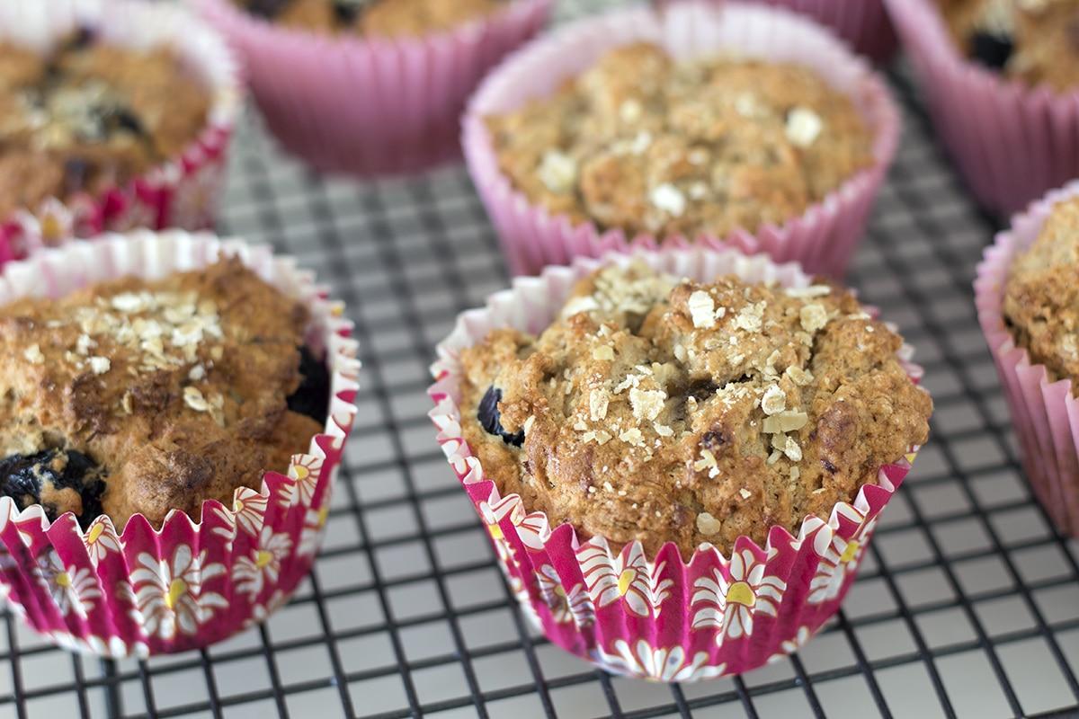 vegan banana blueberry yoghurt muffins