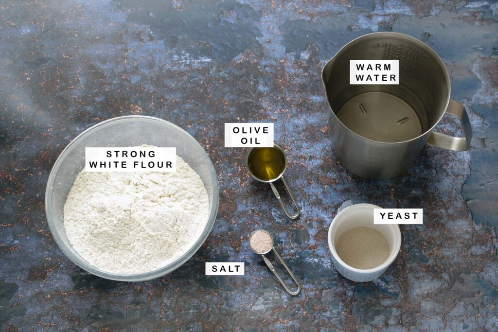 ingredients for flatbreads