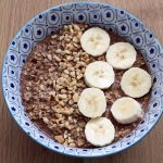 vegan hazelnut chocolate overnight oats recipe by Cook Veggielicious