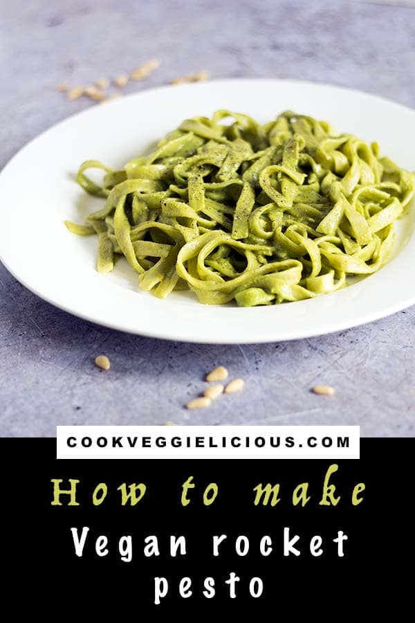 tagliatelle with vegan rocket pesto