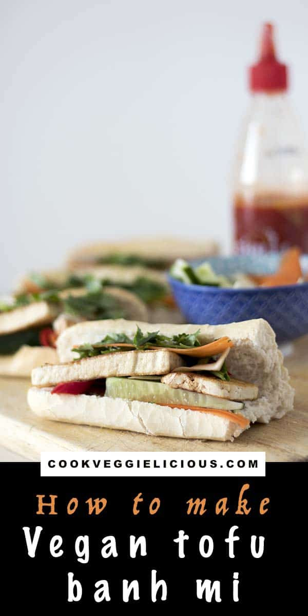 Vegan tofu banh mi recipe by Cook Veggielicious