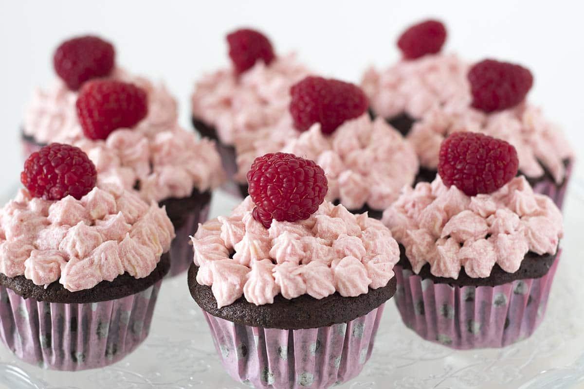 chocolate raspberry cupcakes recipe by Cook Veggielicious