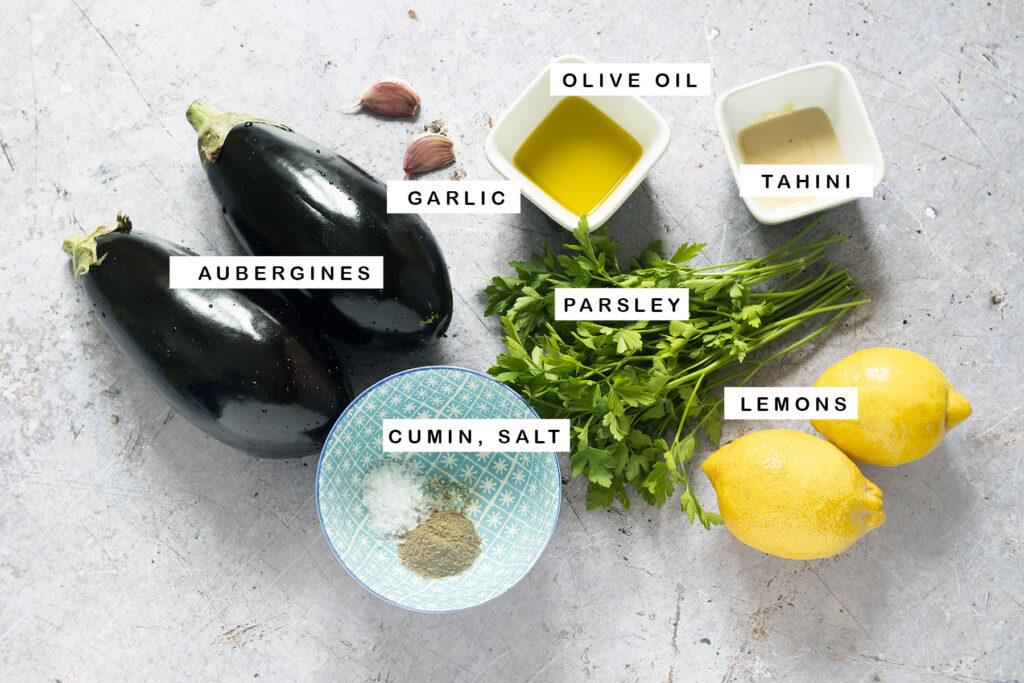 ingredients for baba ganoush
