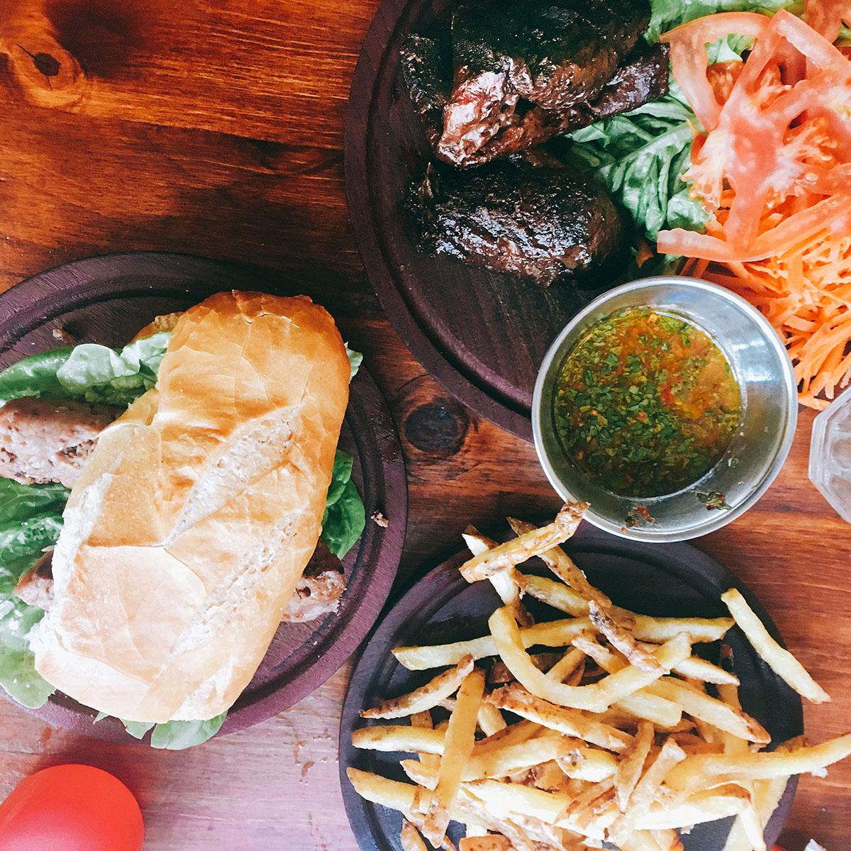 vegan food at la reverde parillita buenos aires