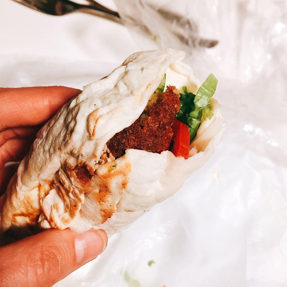 falafel wrap in buenos aires