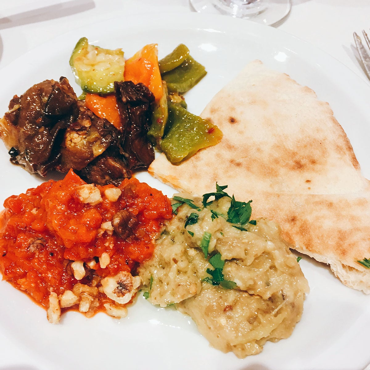 mezze dishes in Sarkis, Buenos Aires