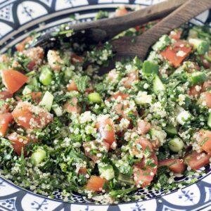 quinoa tabbouleh in bowl