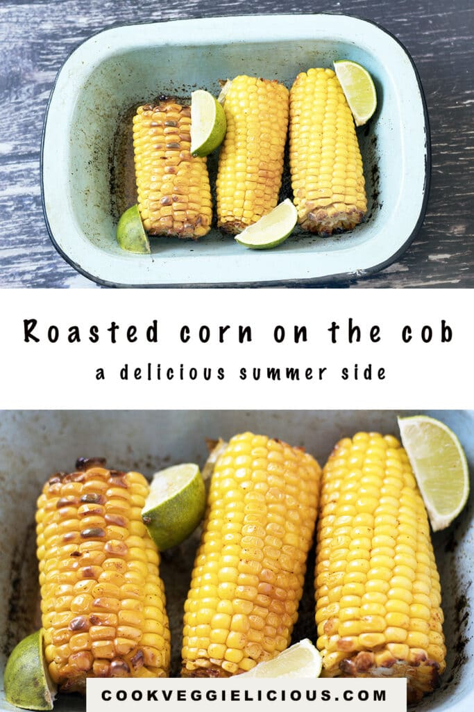 Roasted corn on the cob with paprika
