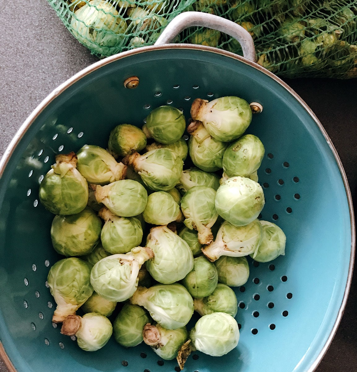 how to prepare brussels sprouts - stage 1