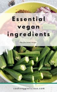 Essential vegan ingredients ebook