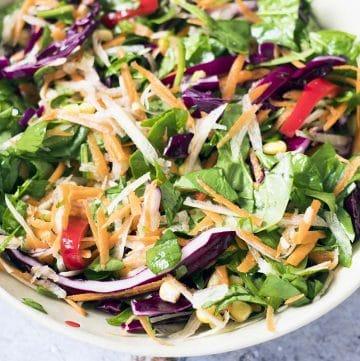 rainbow salad in bowl
