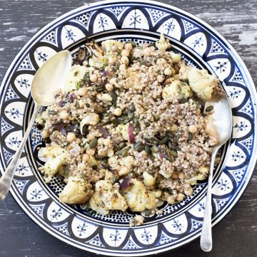 buckwheat, chickpea and cauliflower salad