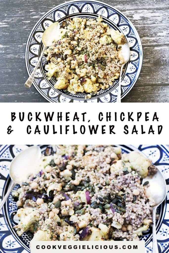 buckwheat, cauliflower and chickpea salad