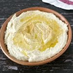fava bean hummus in bowl