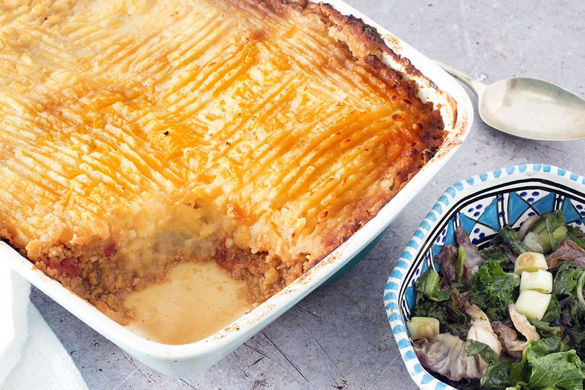 soy mince shepherds pie
