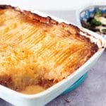 vegan shepherds pie and greens