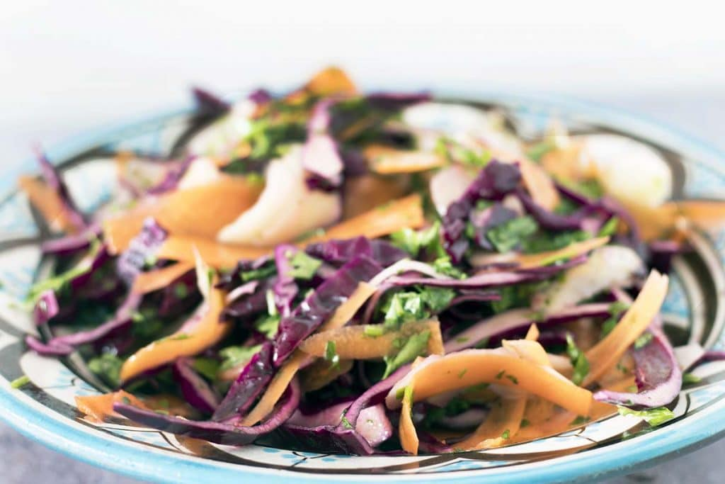 Red Cabbage Carrot And Kohlrabi Slaw Cook Veggielicious