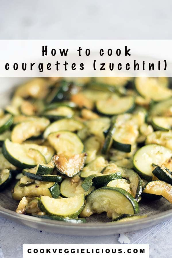 how to cook courgettes - fried courgettes on plate