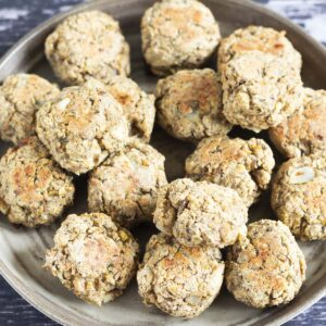 vegan stuffing balls on plate