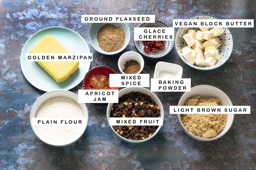 ingredients for vegan simnel cake