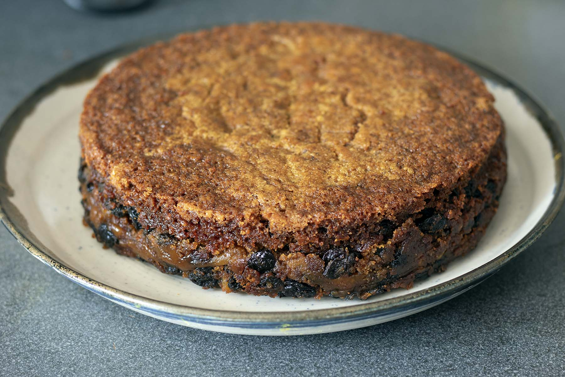 cooked simnel cake on plate