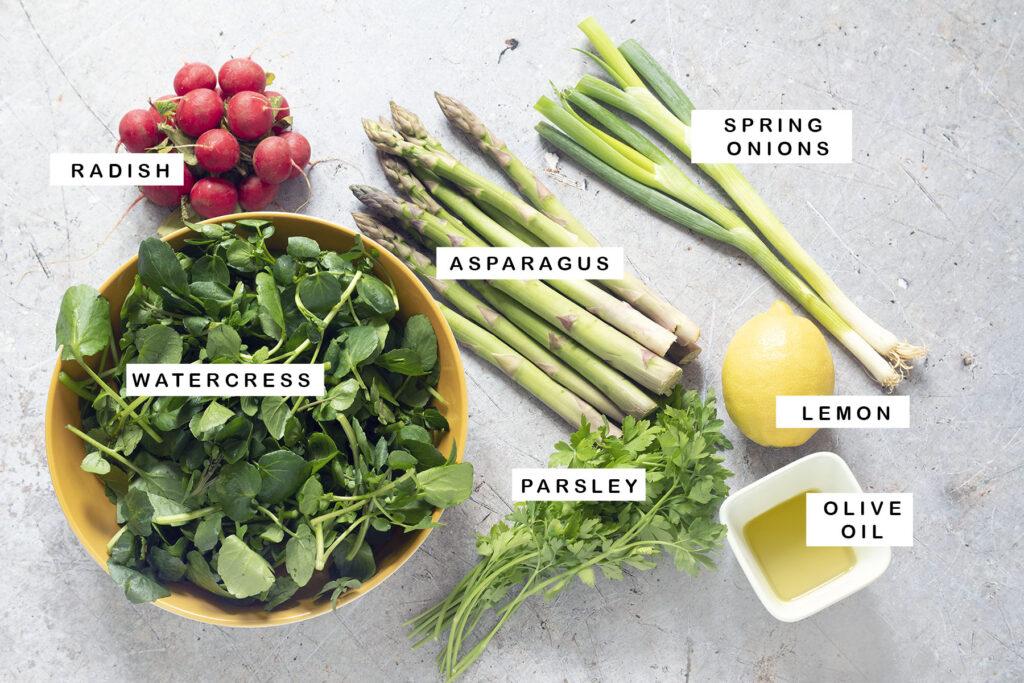 ingredients for asparagus salad