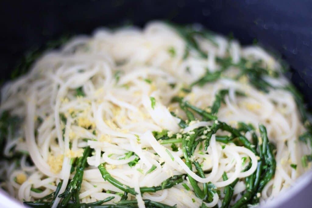samphire and spaghetti