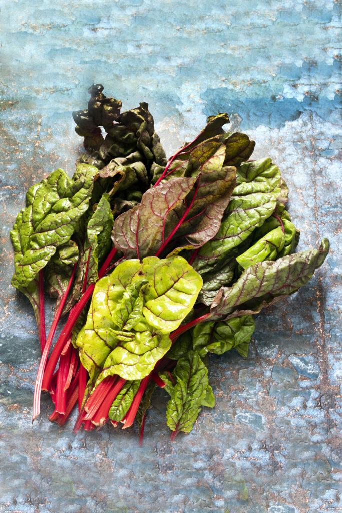 ruby chard leaves