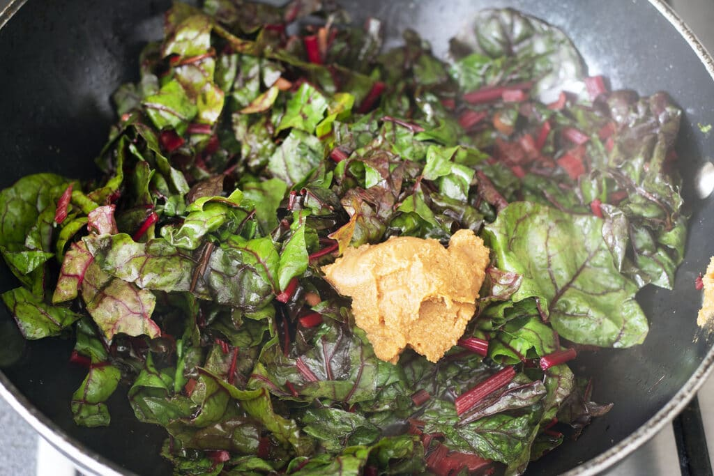 chard and miso
